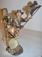 """Mark Hopkins Retired and Rare """"Sons and Brothers"""" Bronze Sculpture"""