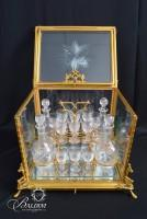 Antique French Gilt Crystal Tantalus Set