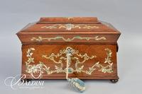 Tea Caddy with Mother of Pearl Inlay