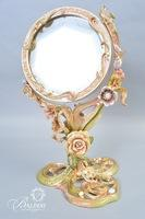 """Jay Strongwater """"Allyson"""" Tall Floral Standing Mirror"""