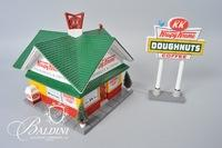 "Retired 2001 Ceramic ""Krispy Kreme Donut Shop"" by Snow Village, Department 56"