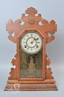 Antique Bristol Mantle Clock With Detailed Carving