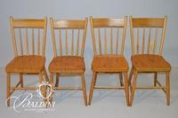 (4) Antique Solid Wood Chairs