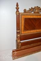 Decorator French Queen Size Bed with Mixed Wood Veneer - Includes Rails
