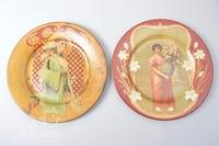 (9) Painted Art Tin Plates, Some Vienna