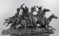"""The Old Dragoons of 1850"" #17 in a Limited Edition of 500 Solid Bronze - Replica by Frederic Remington"