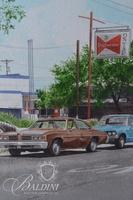 """John Baeder (American, b. 1938) Iconic """"Brown's Diner"""" Original Watercolor on Paper, Signed and Dated '04"""