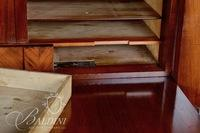 Important 1800's Book-Matched Flame Mahogany Abattant Secretaire with Hidden Compartment
