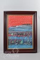 "Gil Veda ""Fishy Tales"" Framed Painting on Canvas"