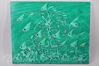 "(2) Gil Veda ""Fishy Tales"" Original Painting on Canvas"