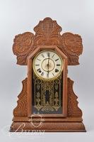 Carved Wood Case Mantle Clock - No Key