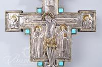 Hungarian Silver Plated Giotto Cross with Certificate