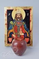 """Artikon"" Original Handpainted Icon on Wood with COA"