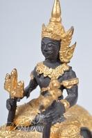 Thai Influenced Stone 3-Headed Elephant (Erawan) and Diety
