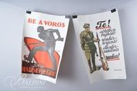 """(5) Budapest Propaganda Posters Includes """"Vegre"""""""