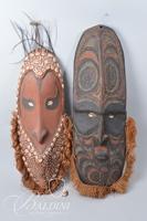 (2) Papua New Guinea Masks