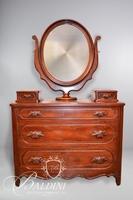 Davis Cabinet Company Lillian Russell Solid Wood Dresser with Wishbone Mirror