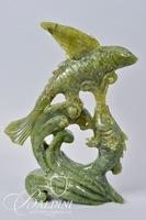 Soapstone Whimsical Fish with Wings