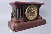 E.M. Welch Mfg. Co. 8-Day 1/2 Hour Strike Cathedral Turn Back Mantle Clock