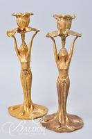 Pair of Art Nouveau Candle Holders