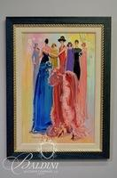"""Creason Clayton (1927-2006) """"The Event"""" Original Oil on Board Signed Lower Left"""