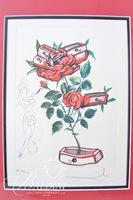 "Salvador Dali ""Flores Surrealists 1972"" Serigraph #62 in a Limited Edition of 350 Includes COA"