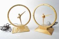 (2) Mid Century Modern Jefferson Golden Hour Clocks
