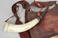Jerry Fisher Handmade Jaeger Bag with Deer Forelegs, Includes Knife and Horn