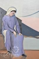 "David Scutt Original Oil on Panel Board ""Melancholy Mary"""