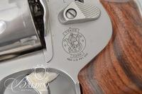 "Smith & Wesson Model 625 .45 ACP Stainless Engraved with a Viking Face and ""Oseberg Vik"" by D. Scutt. Serial CTW9934"