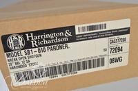 """H & R SB1-010 Pardner Break Action .12 GA Hardwood Stock 28"""" Barrel  NEW IN BOX Serial - CAC377280"""