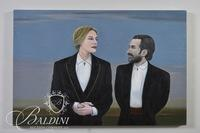 "David Scutt ""Secrets"" Original Oil on Canvas, Signed"