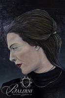 "David Scutt ""M"" Original Oil on Canvas"