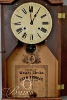 Seth Thomas 8-Day Weight Wall Clock Originally From the Brentwood Railway Station