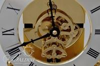 S. Haller German Time Bomb Glass Dome Clock