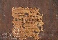 New Haven 8-Day Striking Alarm Shelf Clock with Partial Paper Label Intact