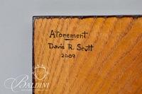 "David Scutt ""Atonment"" Original Art of Engraved Steel Cross on Board"