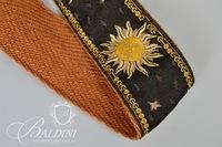 Leather Belt Pouch and Burlap Bag with Cloth Strap