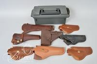 (8) Leather Holsters and One Ammo Case