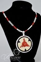 Porcupine Quill Necklace and Silver Hanging Medallion