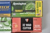 .32 Auto, WAD and MAG Ammo and 1 Ammo Case
