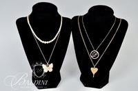"(4) Costume Necklaces - (2) Are Initialed ""P"""