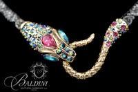 Betsey Johnson Cobra Costume Necklace with Matching Bracelet