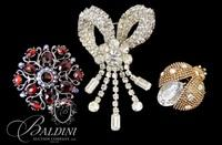 (3) Rhinestone Costume Brooches