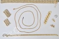 14K Link Necklace (11.4 grams), 14K Bracelet/Broken (20.3 grams) Coca Cola Pocket Knife on Chain and Other Pieces