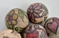 Painted Clay Marbles from Rugby Tennessee