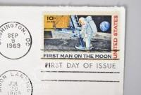 (63) 1 Cent Airmail Stamps and (4) Daniel Boone 6 Cent Stamps