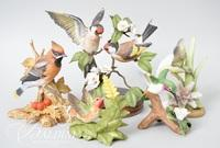 (5) Bisque Birds Including Bronson Collectibles