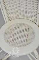 (2) White Wicker Chairs