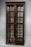 Lighted Cabinet with Glass Shelves